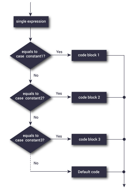 Switch Statement Flowchart