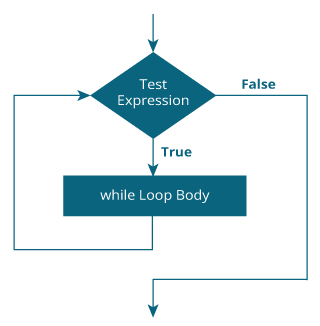 PHP while loop flowchart