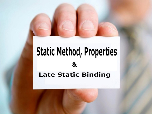 static-method-and-properties-in-php