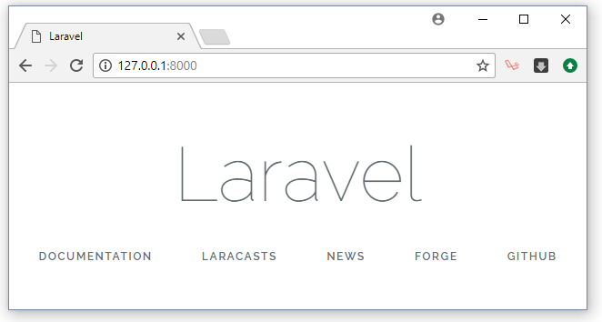 PHP Laravel Installation Success