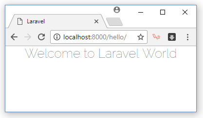 show view file using laravel route