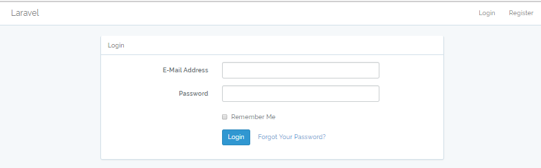 Laravel Login with default Auth