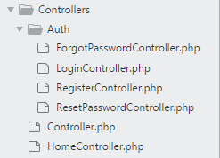 Laravel auth folder in controller