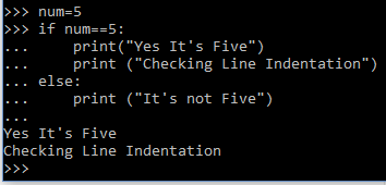 Line Indentation example