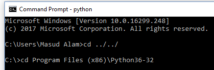 Python Windows Command Prompt first Step