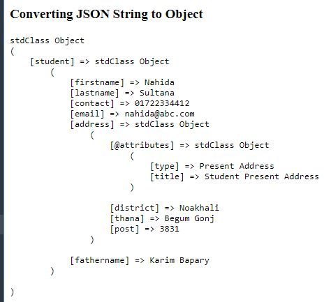 Convert JSON String To Object
