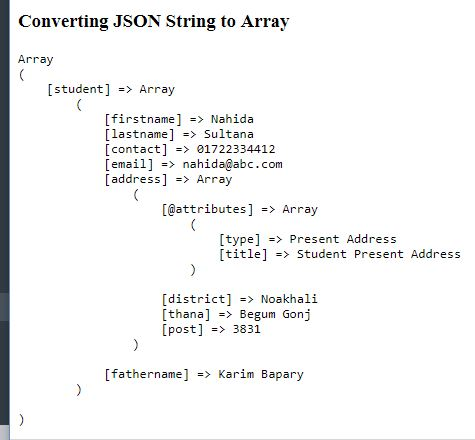 Convert JSON String to Array