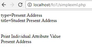 Show Attribute name and Value using PHP Simple XML