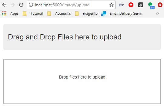 Drag and Drop File Upload Form with Laravel