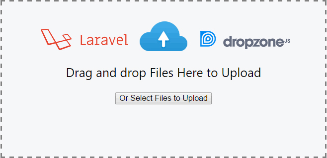Laravel Drag and Drop with Dropzonejs File Uploader