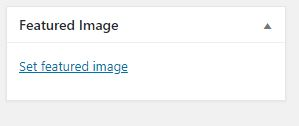 wordpress Featured Image feature add