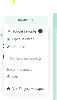 Vue Project Manager