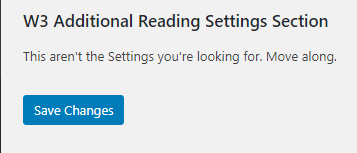 Add Section in WordPress Settings Page