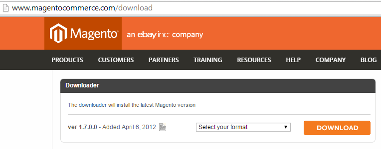 Magento Download Link